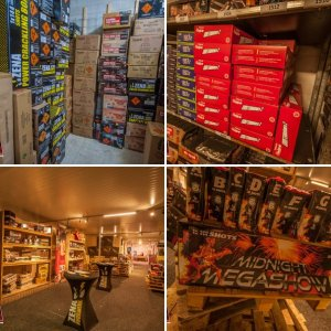 Top vuurwerk breda , showroom + bunker